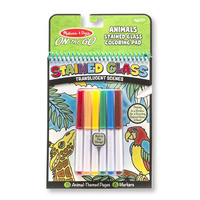 Melissa & Doug - On The Go - Stained Glass Colouring Pad - Animals
