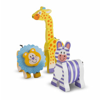 Melissa & Doug - First Play - Safari Grasping Toys