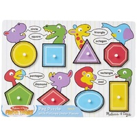 Melissa & Doug - Shapes Peg Puzzle - 8pc