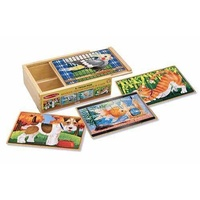 Melissa & Doug - Pets Jigsaw Puzzles in a Box 12pc