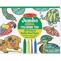 Melissa & Doug - Jumbo Colouring Pad Animals