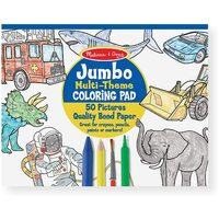 Melissa & Doug - Jumbo Colouring Pad Multi-Theme Blue