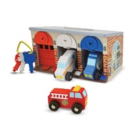 Melissa & Doug - Lock & Roll Rescue Truck Garage