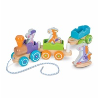 Melissa & Doug - First Play - Rocking Farm Animals Pull Train