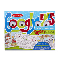Melissa & Doug - Googly Eyes Coloring Pad - Goofy Animals