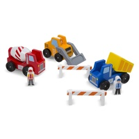 Melissa & Doug - Construction Vehicle Set