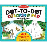 Melissa & Doug - ABC 123 Dot-to-Dot Colouring Pad - Wild Animals