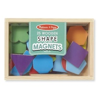 Melissa & Doug - Wooden Shape Magnets 25pc
