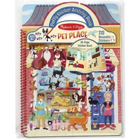 Melissa & Doug - Reusable Puffy Sticker Activity Book - Pet Place