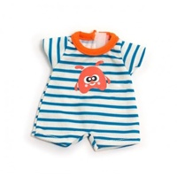 Miniland - 21cm Doll Clothing Set - Light Stripey Pyjamas
