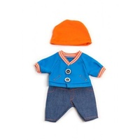 Miniland - 21cm Doll Clothing Set - Autumn Denim Set