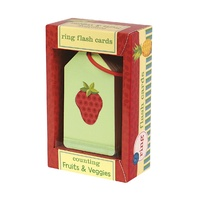 Mudpuppy - Flash Cards - Counting Fruits & Veggies