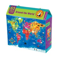 Mudpuppy - Around the World Puzzle 63pc