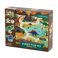 Mudpuppy - Puzzle Play Set - Dinosaur Park
