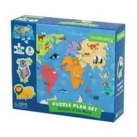 Mudpuppy - Puzzle Play Set - Animals of the World