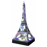 Ravensburger - Mickey & Minnie Eiffel Tower Night Edition 3D Puzzle 216pc