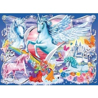 Ravensburger - Amazing Unicorns Glitter Puzzle - 100pc