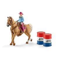 Schleich - Barrel Racing with Cowgirl 41417