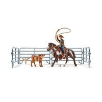 Schleich - Team Roping with Cowboy 41418