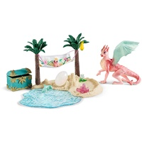 Schleich - Treasure Island with Dragon Mama and Dragon Baby 42436