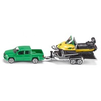 Siku - Car with Snowmobile and Trailer  - 1:55 Scale