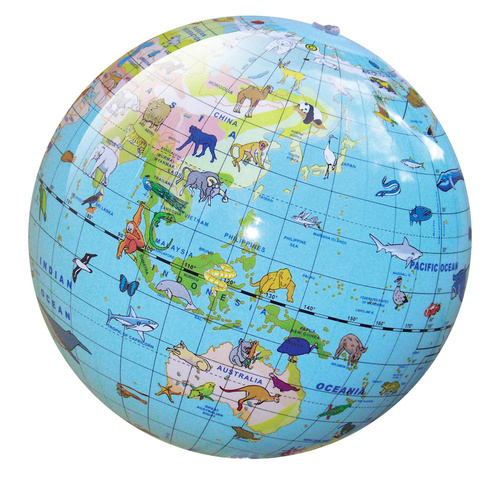 Tiger Tribe - Inflatable World Globe Animals 30cm