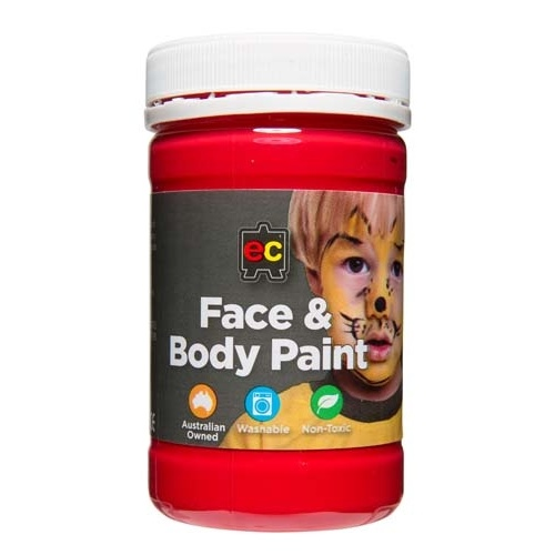 Face & Body Paint 175ml Jar   Red