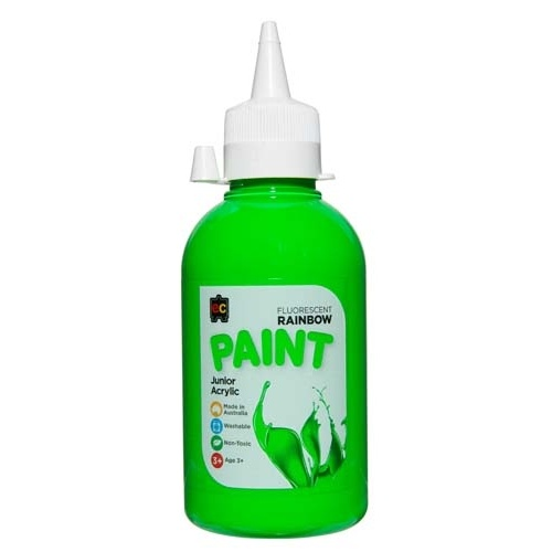 EC - Rainbow Fluorescent Paint 250ml Green