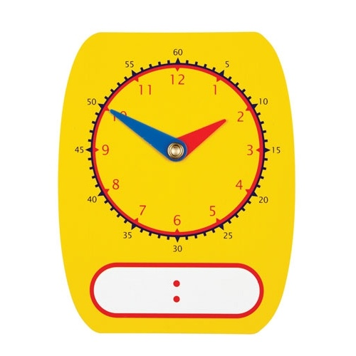 Learning Can Be Fun - Clock Dial Write On/Wipe Off (set of 5)