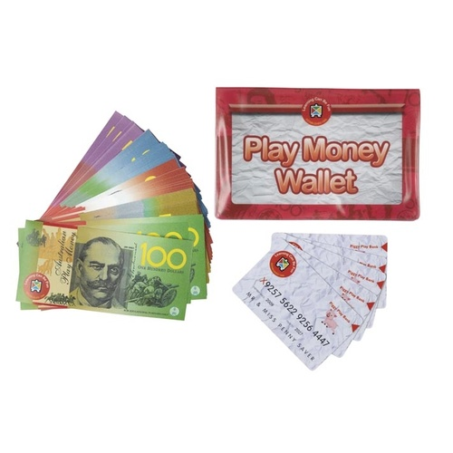 Learning Can Be Fun - Play Money Wallet Set