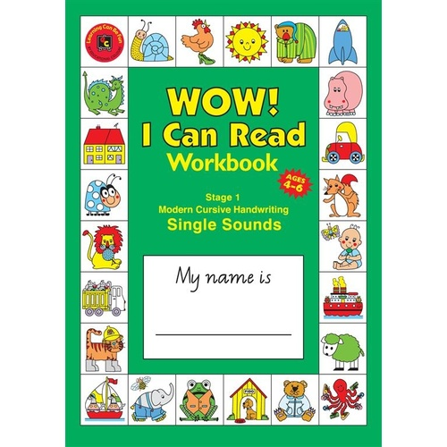 Learning Can Be Fun - Wow! I Can Read Workbook Stage 1 Modern Cursive
