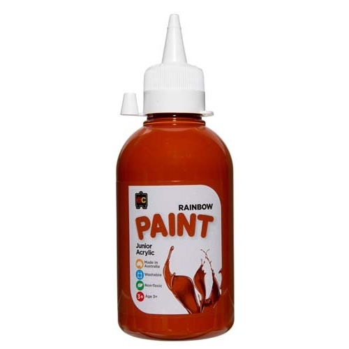 EC - Rainbow Paint 250ml Burnt Sienna