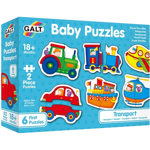 Galt - Baby Puzzles -Transport 2pc
