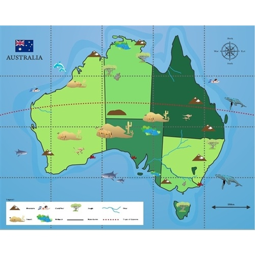 Bee-Bot Mat - Australia Map