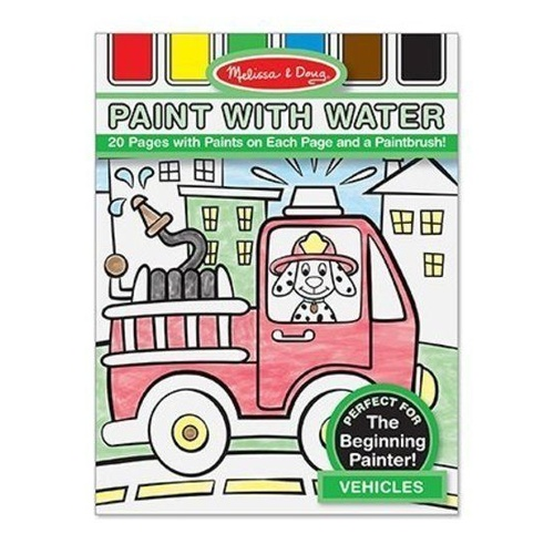 Melissa & Doug - Paint with water - Vehicles