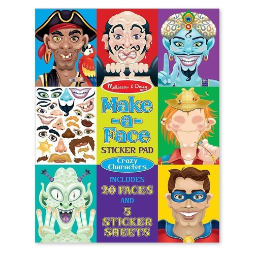 Melissa & Doug - Make-a-Face - Sticker Pad Crazy Characters