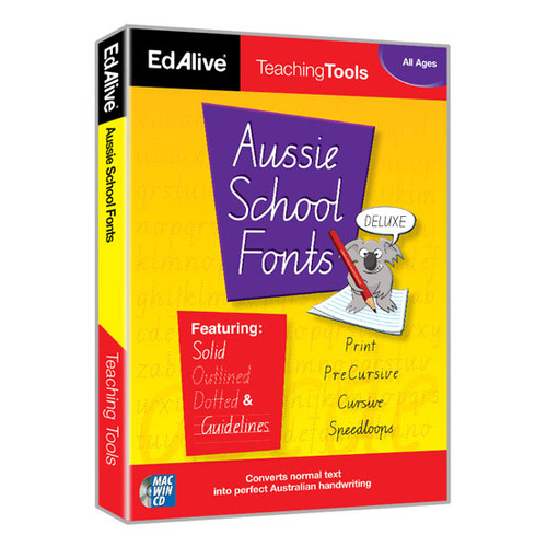 Aussie School Fonts Deluxe (10 User licence)